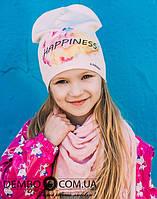 Детская шапка для девочек МИРАБЕЛЛА оптом размер 50-50-52-52