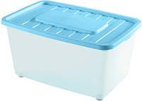 Контейнер для хранения пластиковый на колесах 46 л, 56*37*34 см, Heidrun 1566