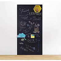Меловая магнитная плёнка Самоклеящаяся Melmark RS 120 х 100 см. МАТОВАЯ чёрная, фото 1