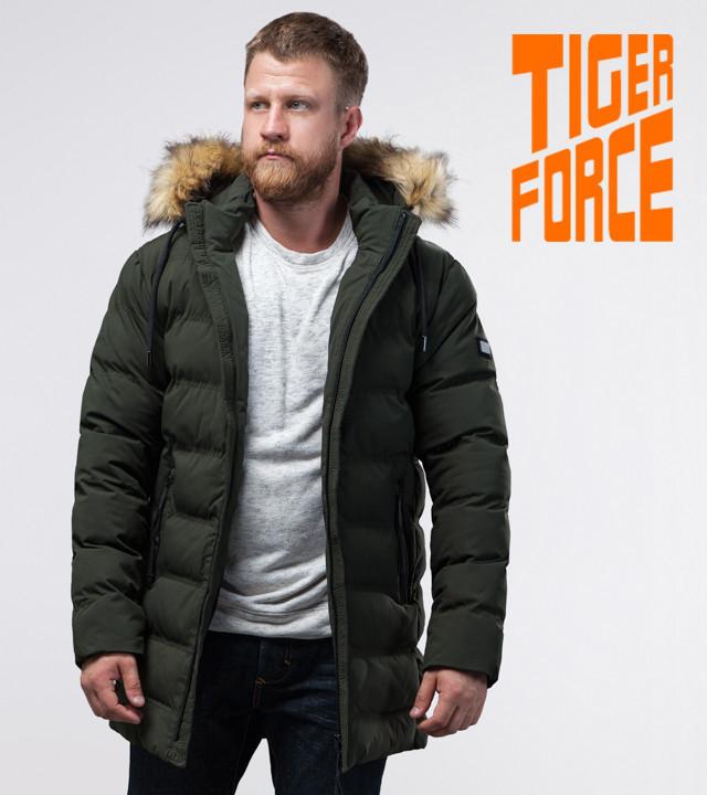 Tiger Force 74560   куртка мужская зимняя темно-зеленая