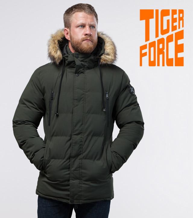 Tiger Force 70450 | мужская зимняя куртка темно-зеленая