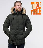 Tiger Force 70450 | мужская зимняя куртка темно-зеленая, фото 1
