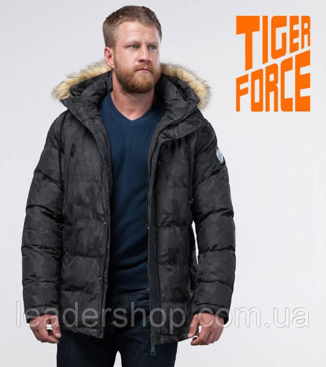 Tiger Force 71368 | куртка зимняя мужская темно-серая