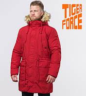Tiger Force 58406 | зимняя мужская парка красная, фото 1