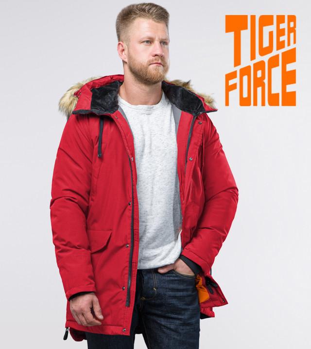 Tiger Force 76447   зимняя мужская парка красная