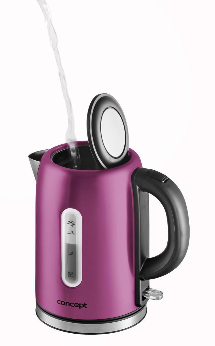 Электрический чайник Concept RK-3225 фиолетовый Чехия