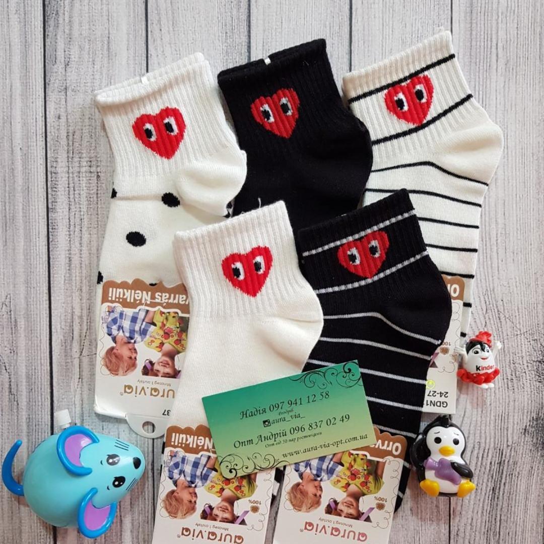 Aura.via. Детские носки с сердечком 24-27,28-31,32-35.