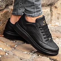 Мужские черные кроссовки Wagoon Чоловічі Кросівки Размер 40,41,42,44, фото 2