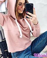 Женский классный весенне-осенний с капюшоном свитшот (двухнитка турецкая) 42-56 РАЗМЕРЫ, фото 1