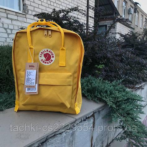 Рюкзак Fjallraven Kanken желтый, фото 2