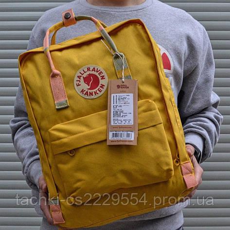 Рюкзак Fjallraven Kanken желтый в клеточку, фото 2