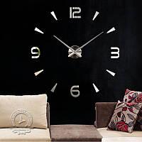 Настенные 3d часы Timelike 130см T4236 Silver