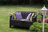 Набор садовой мебели Corfu Love Seat Graphite ( графит ) из искусственного ротанга ( Allibert by Keter ), фото 6