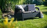 Набор садовой мебели Corfu Love Seat Graphite ( графит ) из искусственного ротанга ( Allibert by Keter ), фото 8
