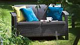Набор садовой мебели Corfu Love Seat Graphite ( графит ) из искусственного ротанга ( Allibert by Keter ), фото 9