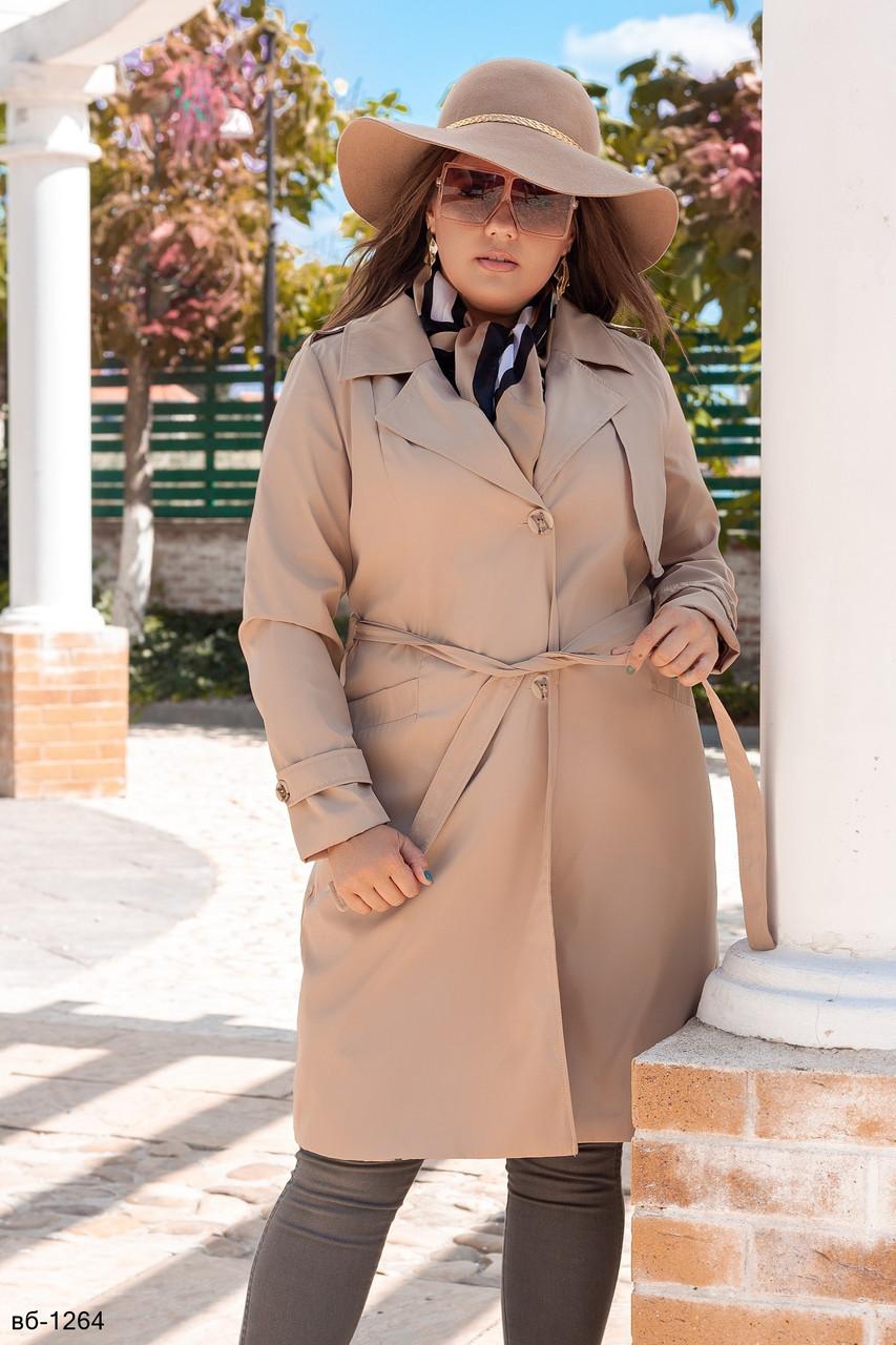 Модный женский плащ тренч Бербери с поясом Реплика С, М +большие размеры Разные цвета