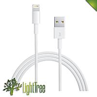 USB кабель шнур для iPhone Lightning , кабель для зарядки айфона 2м  белового цвета