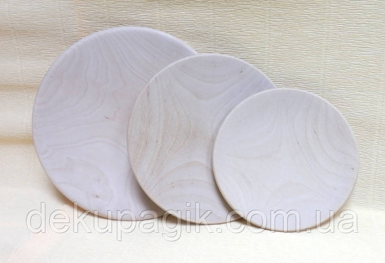 Тарелка деревянная, 10см