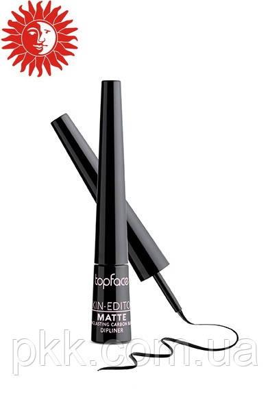 Подводка для глаз TopFace Matte Carbon-Black Longlasting Dipliner РТ405
