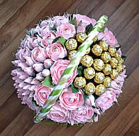 """Букет из конфет """"Сто розовых роз"""" с Ферреро Роше"""