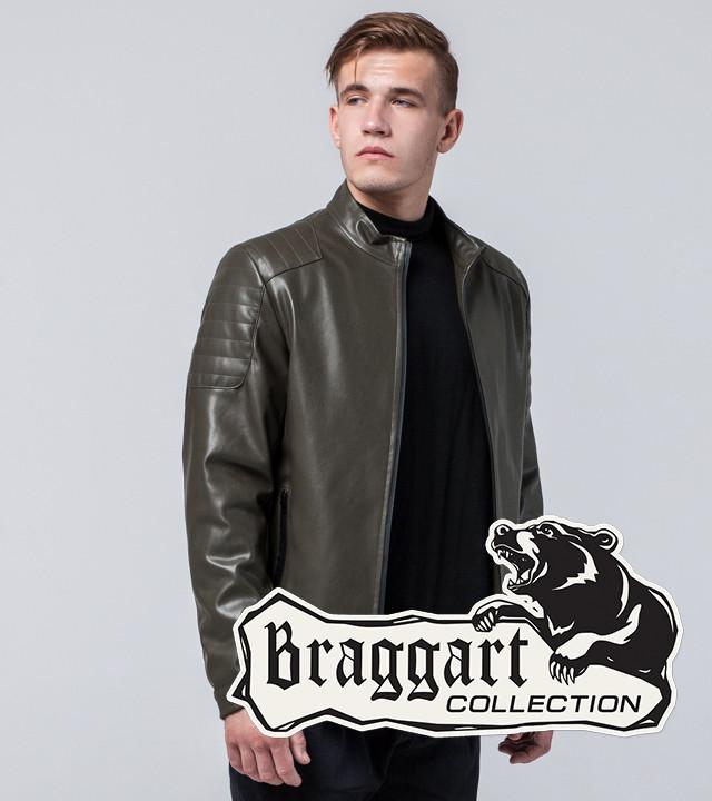 Мужская Куртка экокожа хаки