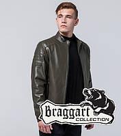 Мужская Куртка экокожа хаки, фото 1