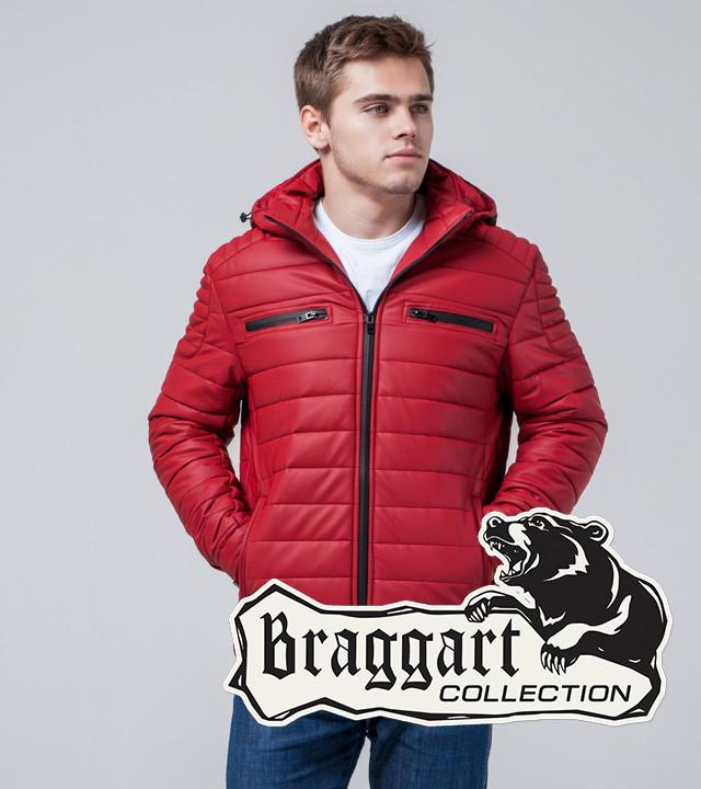Мужская Куртка экокожа красный