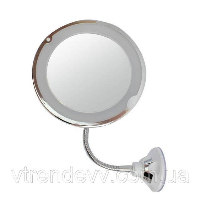 Зеркало гибкое для макияжа Flexible Mirror 10Х с LED подсветкой