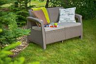 Набор садовой мебели Corfu Love Seat Cappuccino ( капучино ) из искусственного ротанга, фото 1
