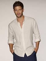 Мужская рубашка, лен. ТМ oBBo. Размер 42-54 plussize, фото 1