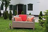 Набір садових меблів Corfu Love Seat Cappuccino ( капучіно ) з штучного ротанга ( Allibert by Keter ), фото 7