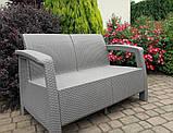 Набір садових меблів Corfu Love Seat Cappuccino ( капучіно ) з штучного ротанга ( Allibert by Keter ), фото 9