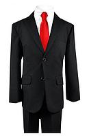 Чёрный школьный костюм пятёрка с галстуком