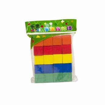 Кубики деревянные, цветные (20 штук) Ду-61кс
