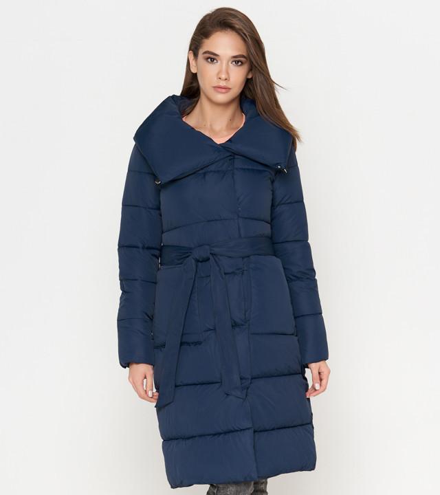 Теплая женская куртка синяя Tiger Force