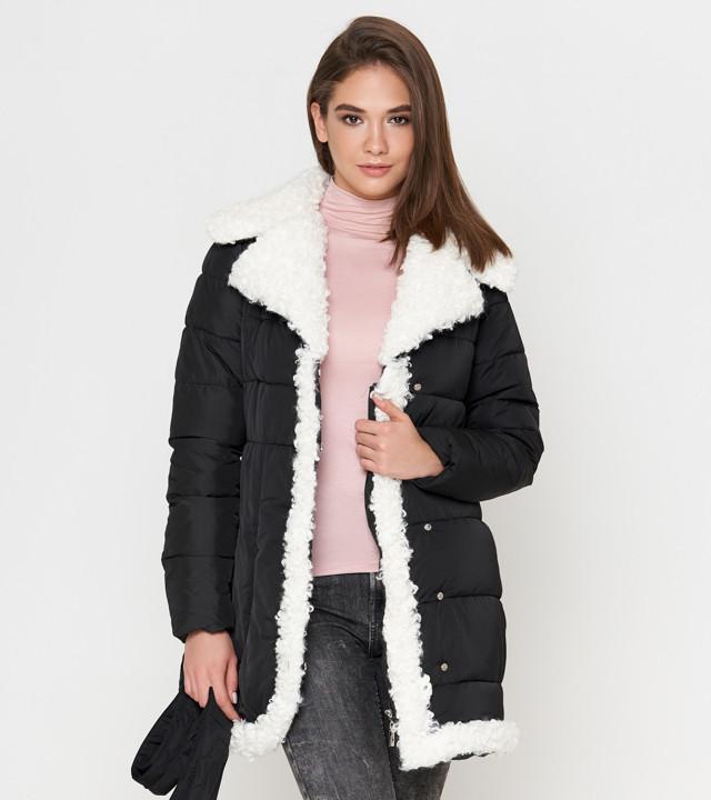 Куртка зимняя женская черная Tiger Force