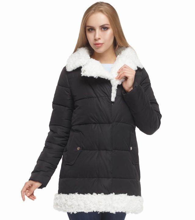 Теплая женская куртка черная Tiger Force