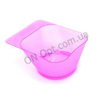 Миска для окрашивания волос квадратная розовая YB023