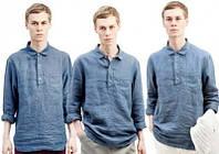 Мужская рубашка из джинсового льна , либо любой другой цвет