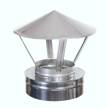 Зонт дымохода Витан нержавейка в оцинковке d150/220 мм, фото 2