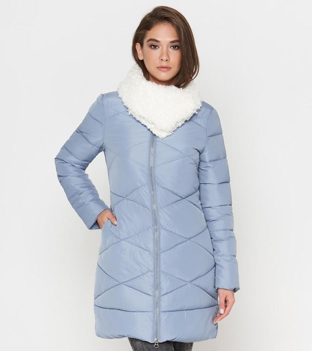 Женская куртка на зиму голубая Tiger Force