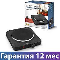 Электроплита Esperanza EKH002K Black, настольная кухонная плита электрическая, електроплита