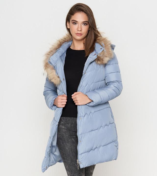 Женская зимняя куртка голубая Tiger Force