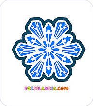 Трафарет + формочка-вырубка для пряников Снежинка №33
