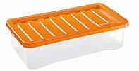 Ящик пластиковый под кровать 40л, 80*40*18 см, Heidrun 1687
