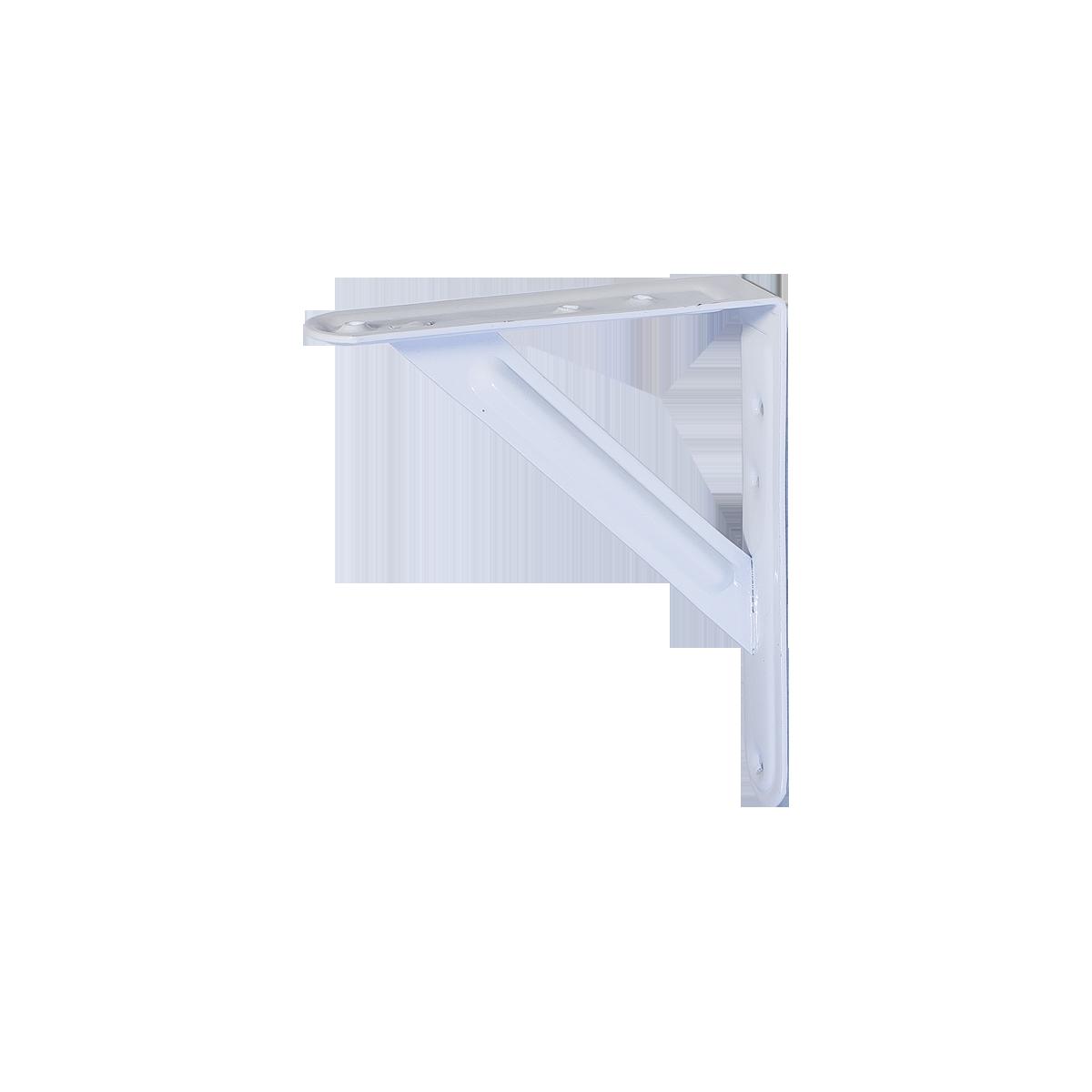 Кронштейн для полок Larvij Стронг 125 х 150 мм Белый. Полкодержатель. Крепление для полок. (L7448WH)
