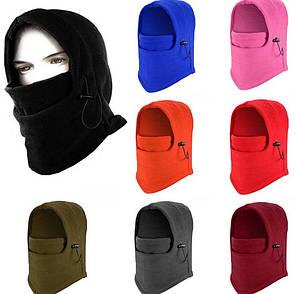 Универсальная балаклава-капюшон. Флисовая-балаклава лыжная теплая бафф, маска бандана флис (зимняя)