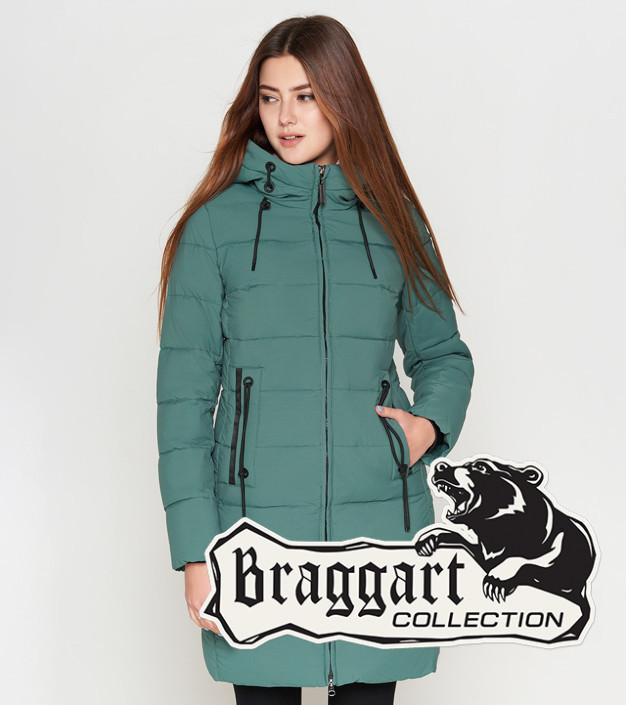 Куртка женская зимняя 25285 зеленая Braggart Youth