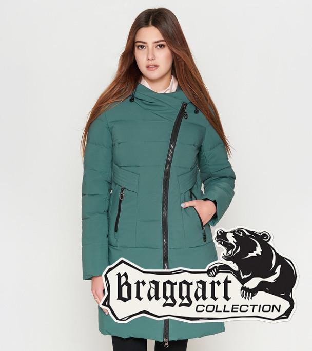 Женская зимняя куртка 25035 зеленая Braggart Youth