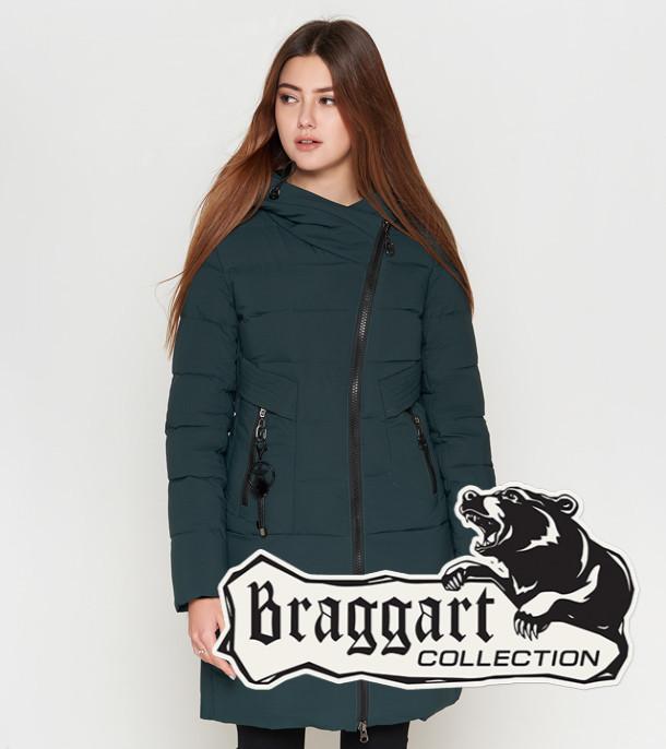 Женская куртка на зиму 25325 темно-зеленая Braggart Youth